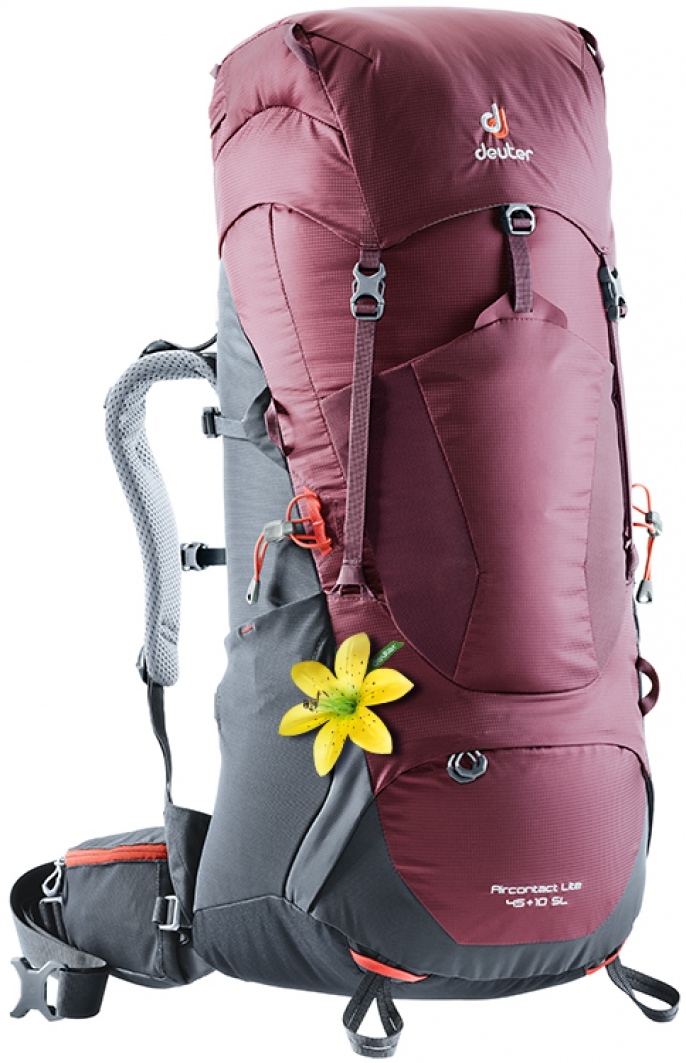 Trekkingbackpack Aircontact Lite 45 + 10 SL grey-red